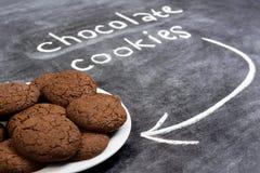 Печенья сладостного шоколада в плите Стоковое Фото