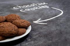 Печенья сладостного шоколада в плите Стоковое фото RF