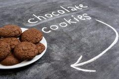Печенья сладостного шоколада в плите Стоковая Фотография RF