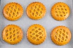 Печенья сладостного яблочного пирога круглые Стоковое Фото