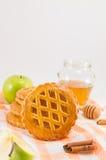 Печенья сладостного яблочного пирога круглые Стоковые Изображения