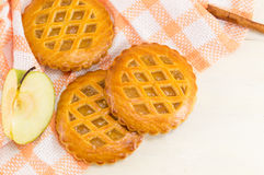 Печенья сладостного яблочного пирога круглые Стоковая Фотография RF