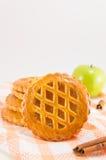 Печенья сладостного яблочного пирога круглые Стоковые Фотографии RF