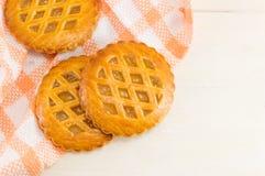 Печенья сладостного яблочного пирога круглые Стоковое Изображение RF
