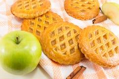 Печенья сладостного яблочного пирога круглые Стоковая Фотография