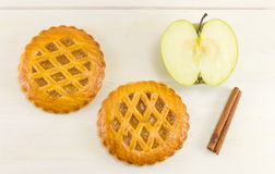 Печенья сладостного яблочного пирога круглые Стоковые Фото