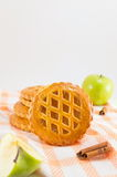 Печенья сладостного яблочного пирога круглые Стоковое Изображение