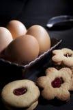 Печенья с вареньем домодельным Стоковое Изображение RF
