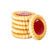 Печенья с вареньем клубники Стоковое Изображение