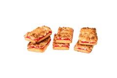 Печенья с вареньем на белой предпосылке стоковые фотографии rf