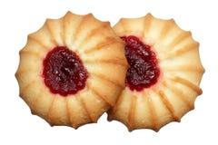 Печенья с вареньем на белой предпосылке Стоковое Изображение