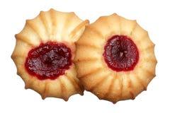 Печенья с вареньем на белой предпосылке Стоковые Фото