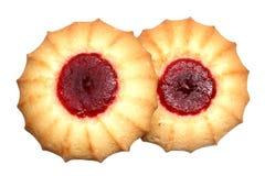 Печенья с вареньем на белой предпосылке Стоковое Фото