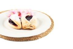 Печенья с вареньем сливы Стоковое Фото