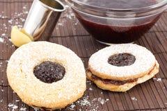 Печенья с варень-bullseye вишни Стоковое Изображение RF