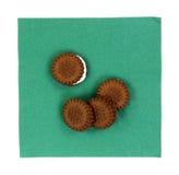 Печенья сливк шоколада размера укуса Стоковые Фото