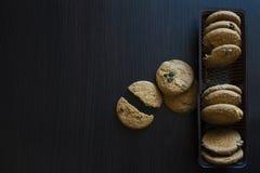 Печенья с изюминками Стоковое Фото