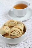Печенья с миндалиной и зеленым чаем Стоковое Изображение