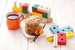 Печенья с овсами Стоковые Фото