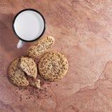 Печенья с семенами и молоком Стоковые Фотографии RF