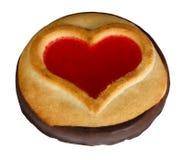 Печенья с символом поливы в форме сердц Стоковая Фотография