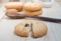 Печенья с стеклом молока Стоковое Фото