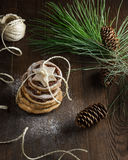 Печенья с украшением Нового Года Стоковое Фото