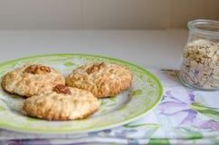 Печенья с хлопьями овса Стоковые Фото