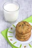 Печенья с шоколадом и молоком Стоковые Фото