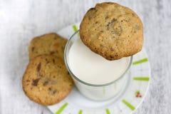 Печенья с шоколадом и молоком Стоковая Фотография RF