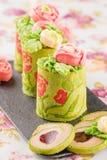 Печенья торта крена зеленого цвета весны Стоковое Фото