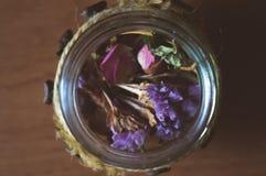 Печенья трав и кофе, милые фото Стоковое Изображение