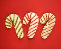 печенья тросточки конфеты стоковые фото