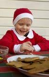 печенья украшая gingerbread Стоковая Фотография