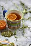 Печенья & чай зимы Стоковое Изображение