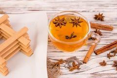 Печенья чашка чаю и специи Стоковое Изображение RF