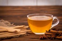Печенья чашка чаю и специи Стоковое фото RF