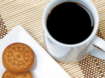 печенья черного кофе Стоковые Фото
