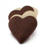 Печенья черно-белого сердца форменные Стоковое фото RF