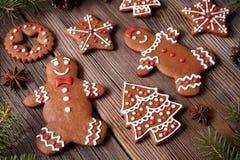 Печенья человек пряника и рождество пар женщины Стоковые Фото
