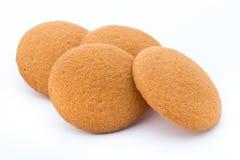 Печенья чокнутые на изолированное на белой предпосылке Стоковые Фото