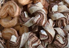 печенья шоколада близкие вверх Предпосылка, домашнее выпечки стоковые изображения rf
