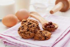 Печенья шоколада и гайки рождества Стоковая Фотография RF