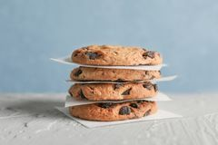 печенья шоколада обломока вкусные стоковая фотография rf