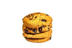 печенья шоколада обломока изолировали белизну Стоковые Фото
