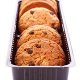 печенья шоколада обломока определяют Стоковое фото RF