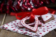 Печенья шоколада рождества формы сердца Стоковая Фотография RF
