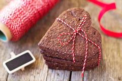 Печенья шоколада сердц-форменные Стоковое фото RF