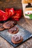 Печенья шоколада с шоколадом на верхней части стоковое изображение rf