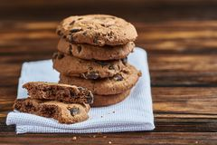 печенья 3 шоколада стоковые фотографии rf